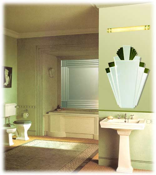 Deco Bathroom Mirror: The Manhattan Mirror Co