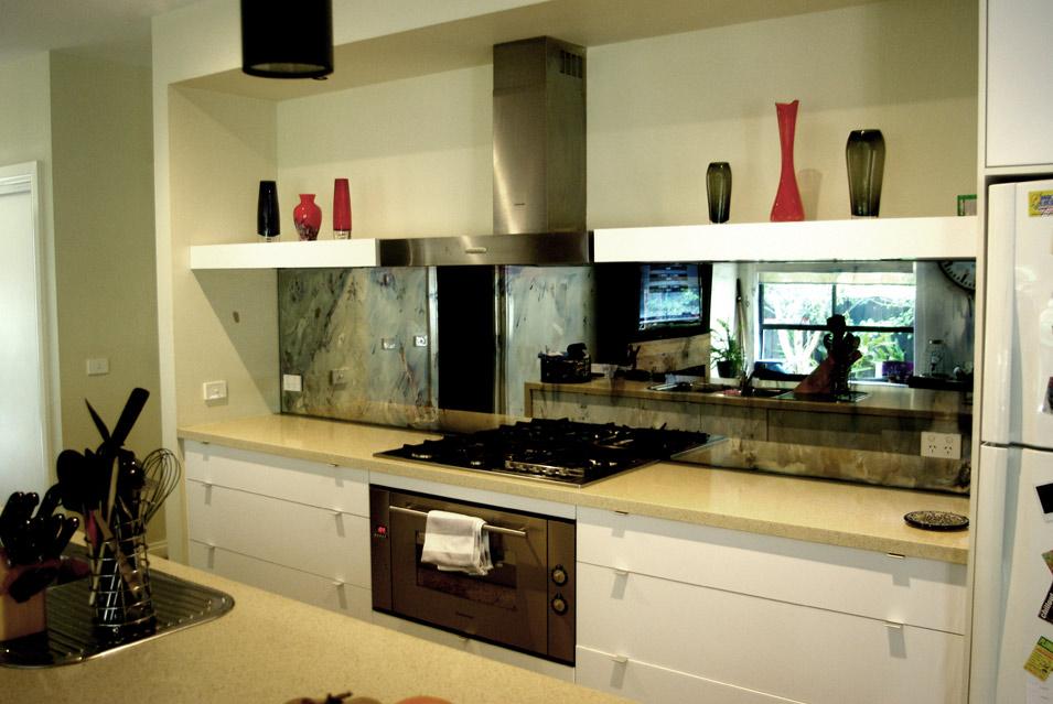 White Kitchen Mirror Splashback mirror kitchen splashbacks melbourne .. antique mirrors