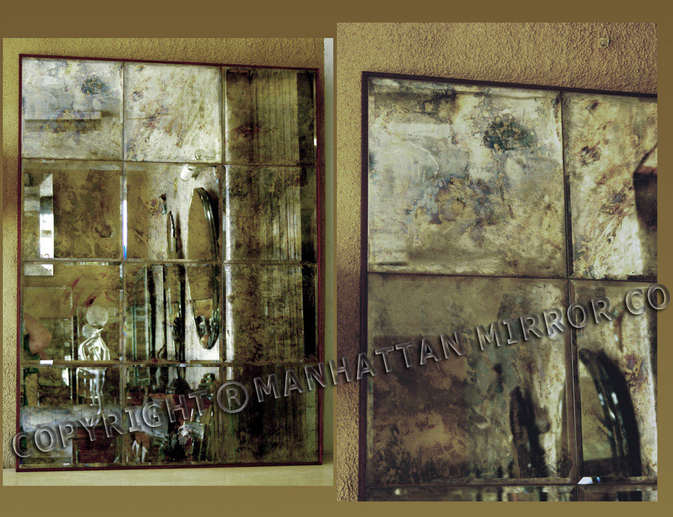 FLORENTINE MIRRORS - Distressed mirror tiles and table tops